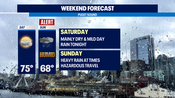 Dry and sunny Saturday, tracking soggy and muggy conditions Sunday