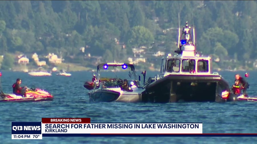 Search for missing father of 3 turns into recovery mission on Lake Washington