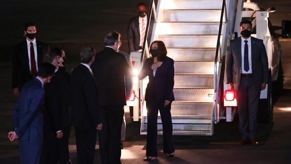 Vice President Kamala Harris Arrives in Mexico to Meet AMLO