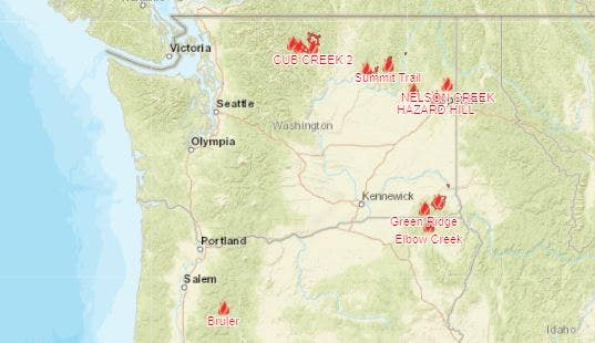 Wildfires in Washington & Oregon