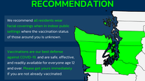Eight Washington counties recommend masking indoors regardless of vaccination status