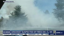 Arson suspected of fires on I-5, 101