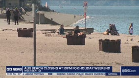 Seattle's Alki Beach closes at 10pm each night this 4th of July weekend