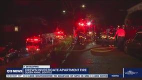 Crews investigate apartment fire in Seattle's Queen Anne neighborhood