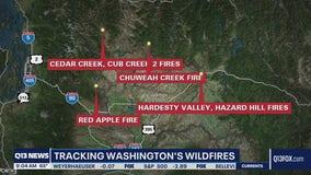 Wildfire tracking in Washington