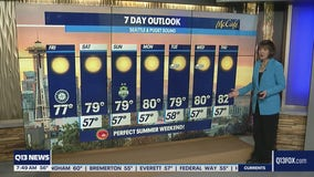 Perfect summer weather continues in Western Washington