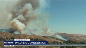 Red Apple Fire north of downtown Wenatchee