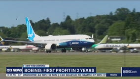 Boeing reports first quarterly profit in 2 years