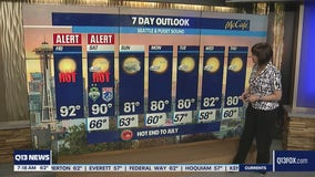 Highs soar into 90s Friday and Saturday in Western Washington