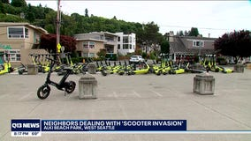 Neighbors near Alki Beach Park dealing with 'Scooter invasion'