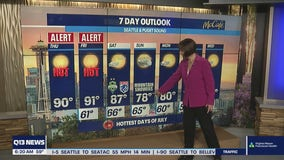 Weather Alert Days issued as temperatures reach 90 in Western Washington