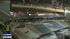 Construction tour inside Climate Pledge Arena