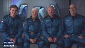 Jeff Bezos, founder of Amazon and Blue Origin, prepares for blastoff in his own rocket.