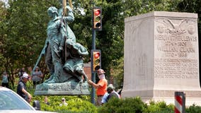 Charlottesville takes down Lewis, Clark and Sacagawea statue after Confederate removals