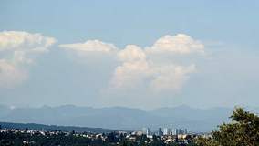 Watch: Cumulus clouds bubble over Cascades in unstable atmosphere