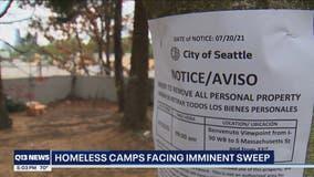 Homeless camps along I-90 to be swept Thursday