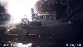 Huge West Michigan propane tank explosion caught on video
