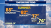 August sunshine with warmer highs continue, but rain looms later this week to possibly end our dry streak!
