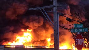 Shelter-in-place advisory issued for Puyallup residents near large commercial fire