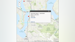 Bellevue beach closed due to high bacteria levels