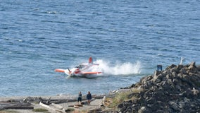 Pilot rescued after small plane crashes into water near Edmonds Marina