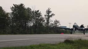 Michigan Air National Guard lands jet on highway as part of training exercise
