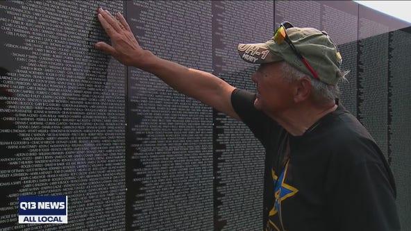 Traveling replica of Vietnam Veteran Memorial on display in Enumclaw