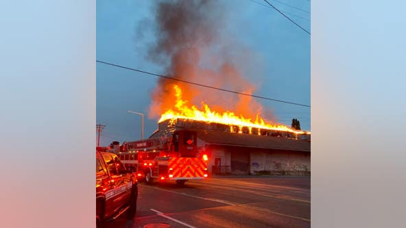 2 different fires break out on Puyallup Ave in Tacoma