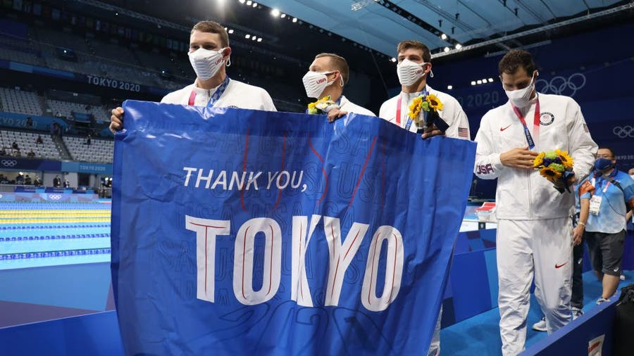 Tokyo Olympics: Americans wrap up swimming events with medals, milestones