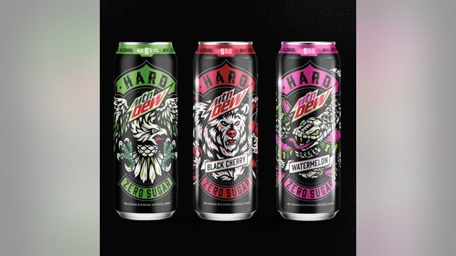 HARD MTN DEW alcoholic beverage