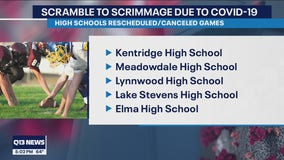 COVID-19 cases cause some high school football teams in western Washington to cancel game day