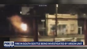 Possible arson destroys building near White Center
