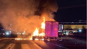 1 killed in fiery semi crash on I-5 in Tacoma