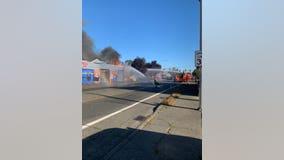 Crews battling commercial fire in White Center