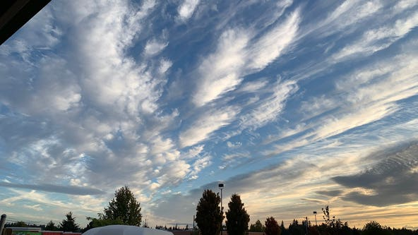 Mother Nature puts on dramatic cloud show over Labor Day Weekend