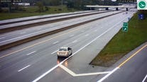 Video: Driver reverses on Ohio interstate after apparently missing exit