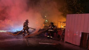 1 taken to hospital after RV fire in Seattle