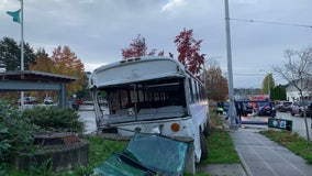 Police: Suspect steals empty school bus, hits several cars in multiple Seattle neighborhoods