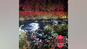Driver uninjured after van crashes into Raging River