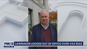 Lawmaker locked out of office at Washington state capital over vaccine rule