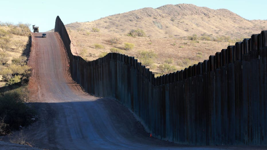 Construction Of Border Wall Continues In Arizona