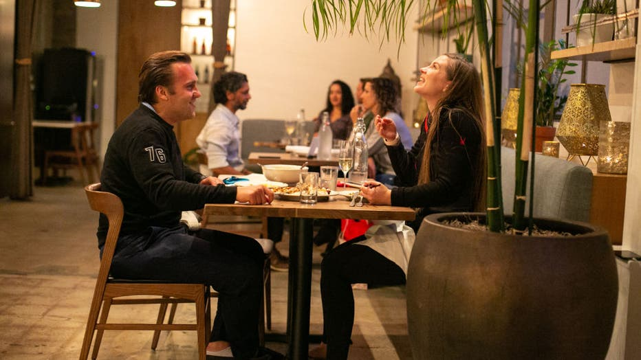 Restaurant goers enjoy dinner at Cassia as the much loved restaurant re-opens its indoor dining and continues outdoor dining.