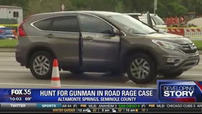 Hunt for gunman in road rage case