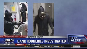 Suspects flee after armed robbery at bank
