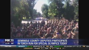 Seminole County deputies participate in torch run for special Olympics today