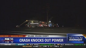 Crash knocks out power