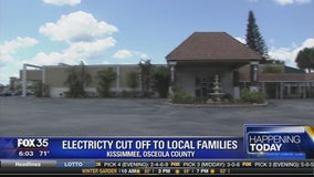 Electricity cut off to local families