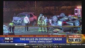 Two killed in overnight crash