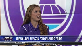 Orlando Pride's Alex Morgan talks soccer