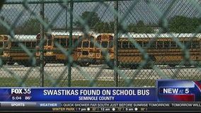 Swastikas found on school bus